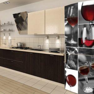 naklejka czerwone wino do kuchni