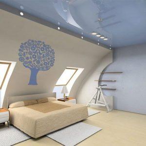 szablony ścienne sypialnia
