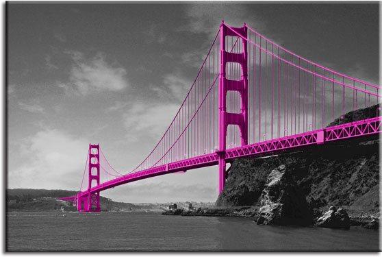 fototapety różowy most