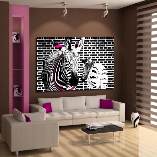 dekoracje zebra ozdoba