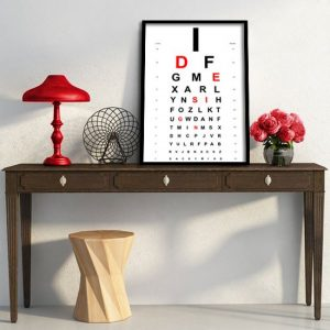 diagram okulistyczny plakat