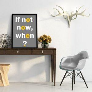 motywujący napis plakat
