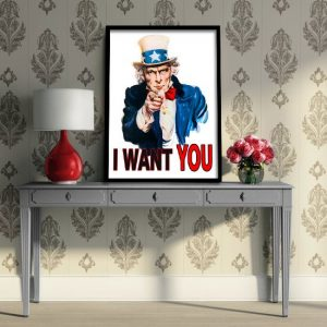 I want You napis