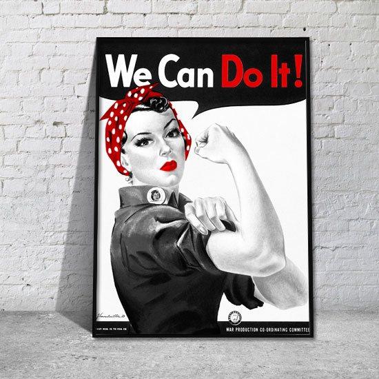 kobieta pracująca żadnej pracy sie nie boi plakat
