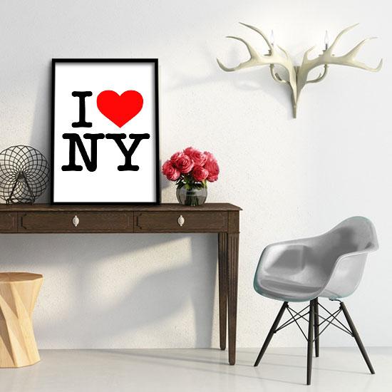 I love NY na plakacie
