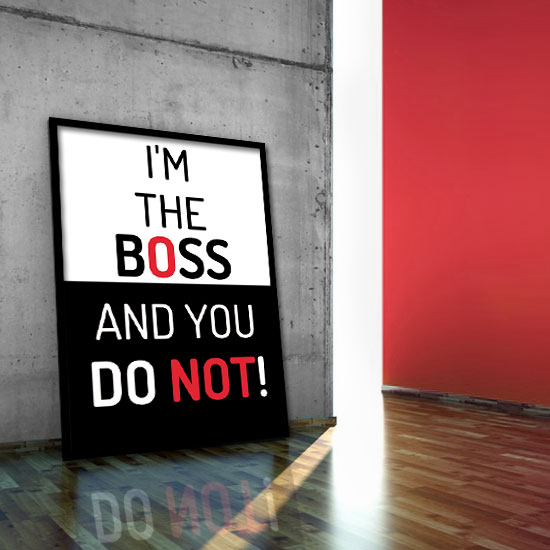 plakat I'm the Boss