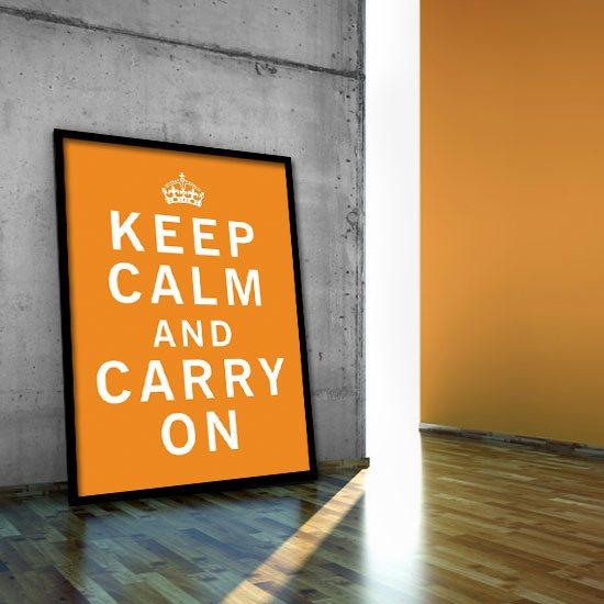 Keep Calm and carry on na plakacie