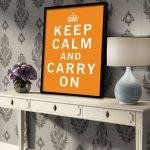 keep calm carry plakat