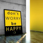 plakat ścienny Don't worry be happy