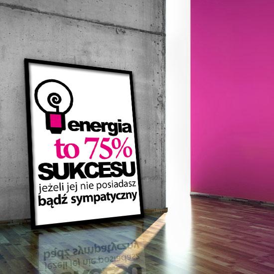 czarno różowy napis plakat