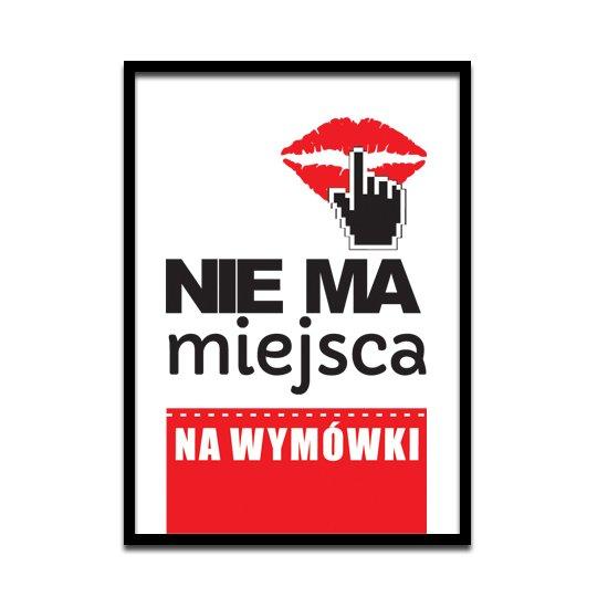 Plakat motywujący Palec na ustach