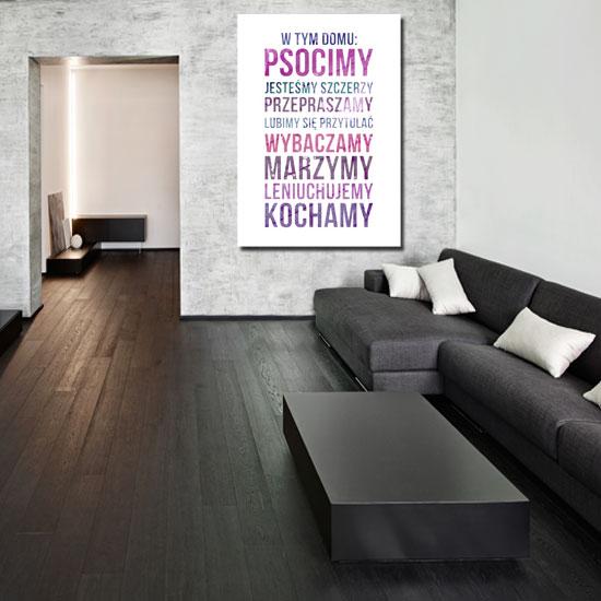 Plakat W Tym Domu Psocimy