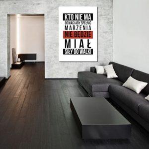 plakat o odwadze