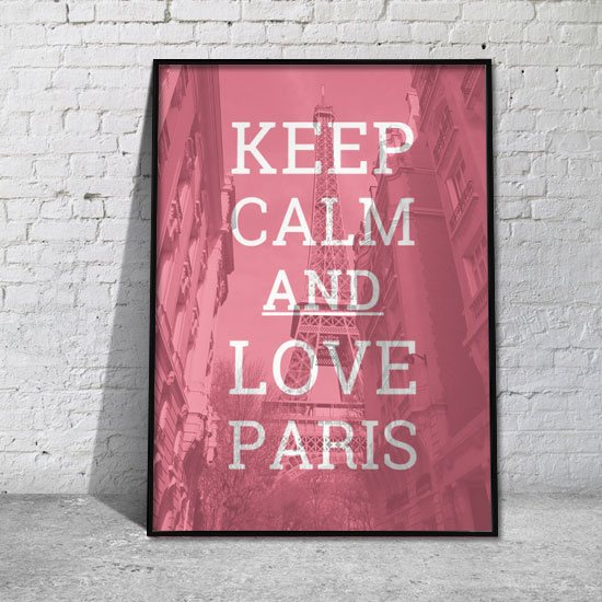 plakat napis o Paryżu
