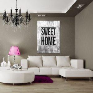 plakat z napisem Sweet Home