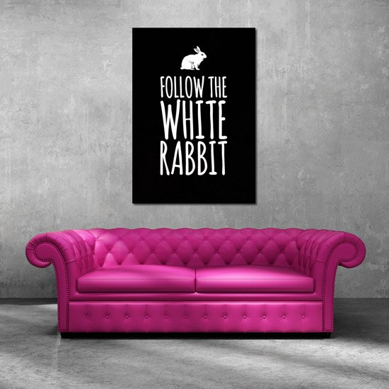 Follow the White Rabbit na plakacie