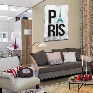 plakat z Paryżem