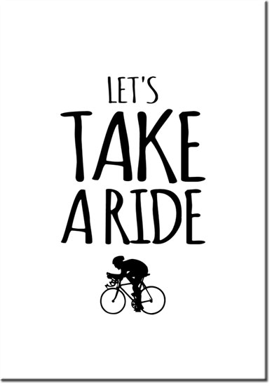 plakat let's take a Ride