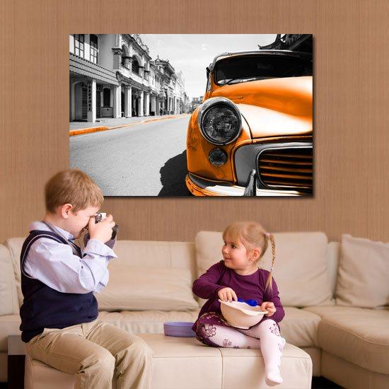 obraz z samochodem
