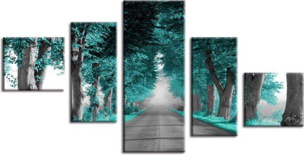 obraz alejki ze starymi drzewami