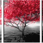 czerwonego drzewa obraz