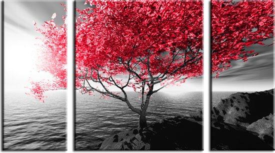 obraz czerwonego drzewa