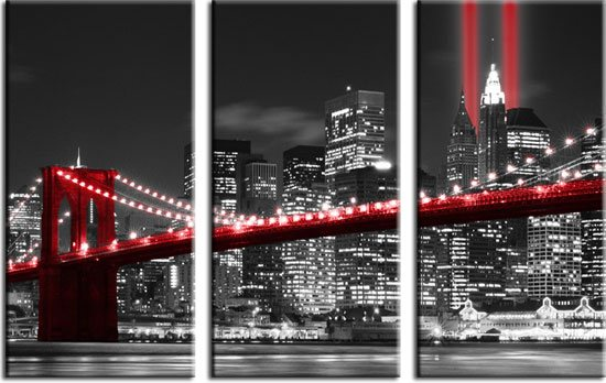 obraz nocnego miasta