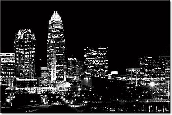 wzór nocnego miasta