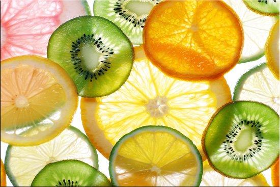 wzór owoców