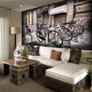 na ścianę fototapeta rowery