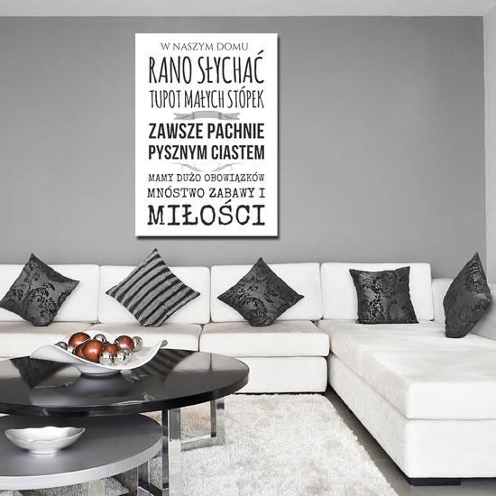 a2a2a8ed547438 Plakat z modnym napisem W naszym domu słychać tupot