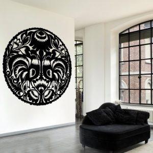 szablon ze wzorem na ścianę