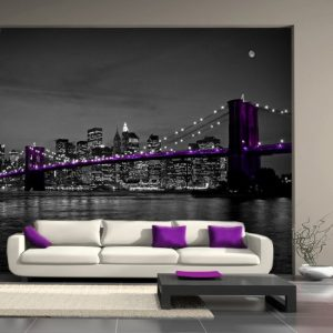 tapeta fioletowy most brookliński