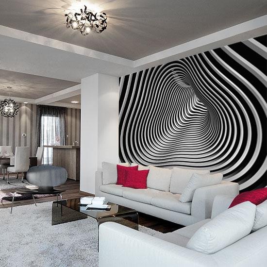tapeta do nowoczesnego salonu