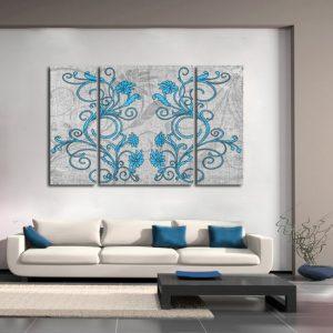tryptyki niebieskie kwiaty