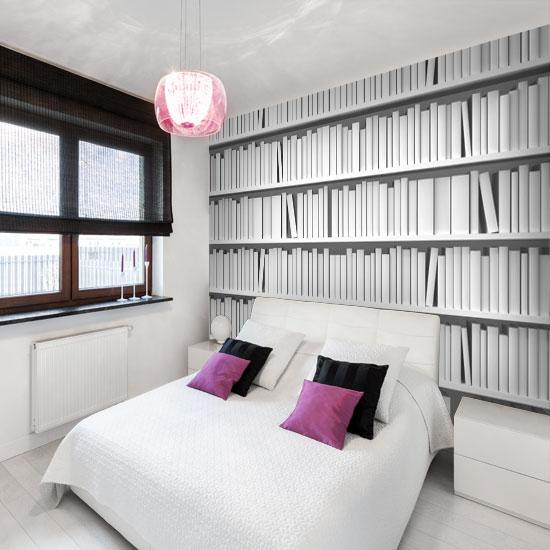 dekoracje biale książki