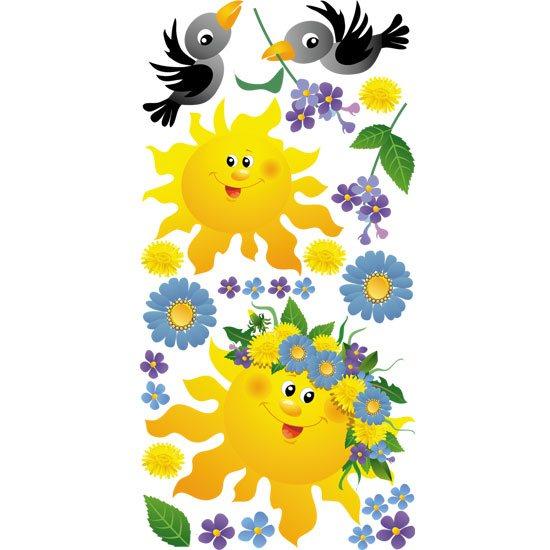 naklejki z słoneczkiem