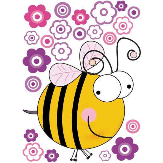 naklejka z pszczołą