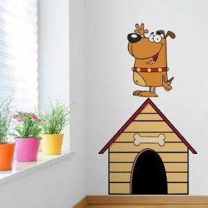 psy na dekoracjach