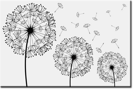 fototapety rysunkowe dmuchawce