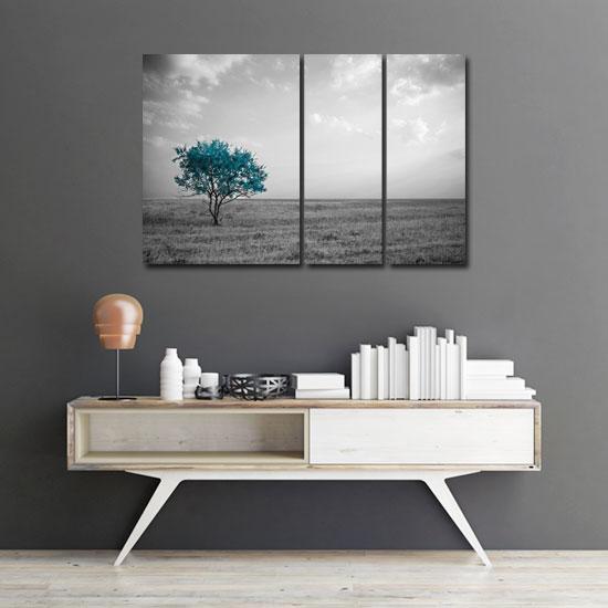 potrójny obraz z drzewem