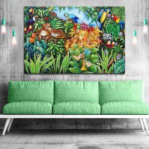 obraz jak malowany w tropikach