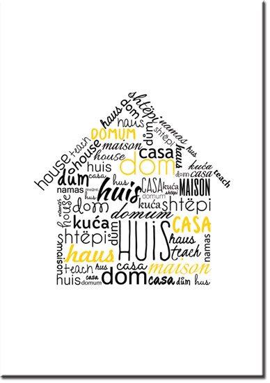 plakaty z domem