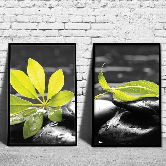dyptyki z liśćmi