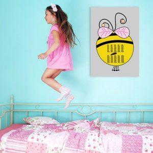 obrazy z pszczółką