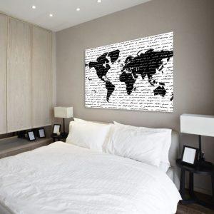 Szablon malarski na ścianę mapa