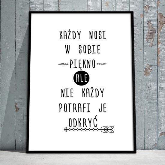 obrazy z typografią