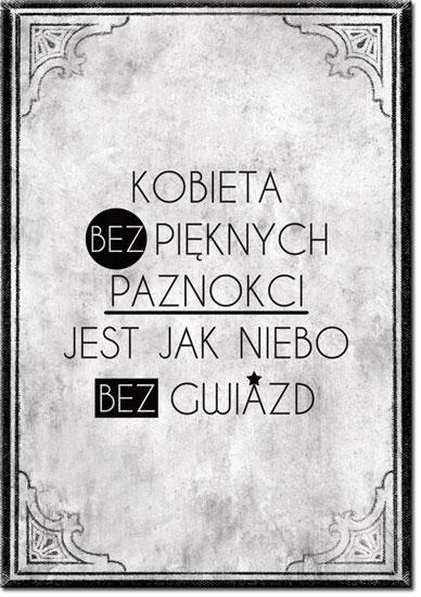 Plakat O Paznokciach