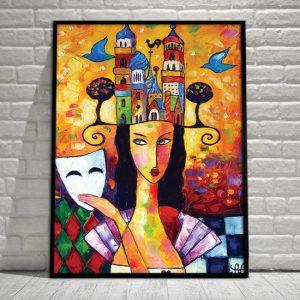 kolorowe reprodukcje malarstwa na plakatach