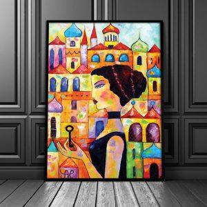 plakat z malarstwem piękna Greczynka